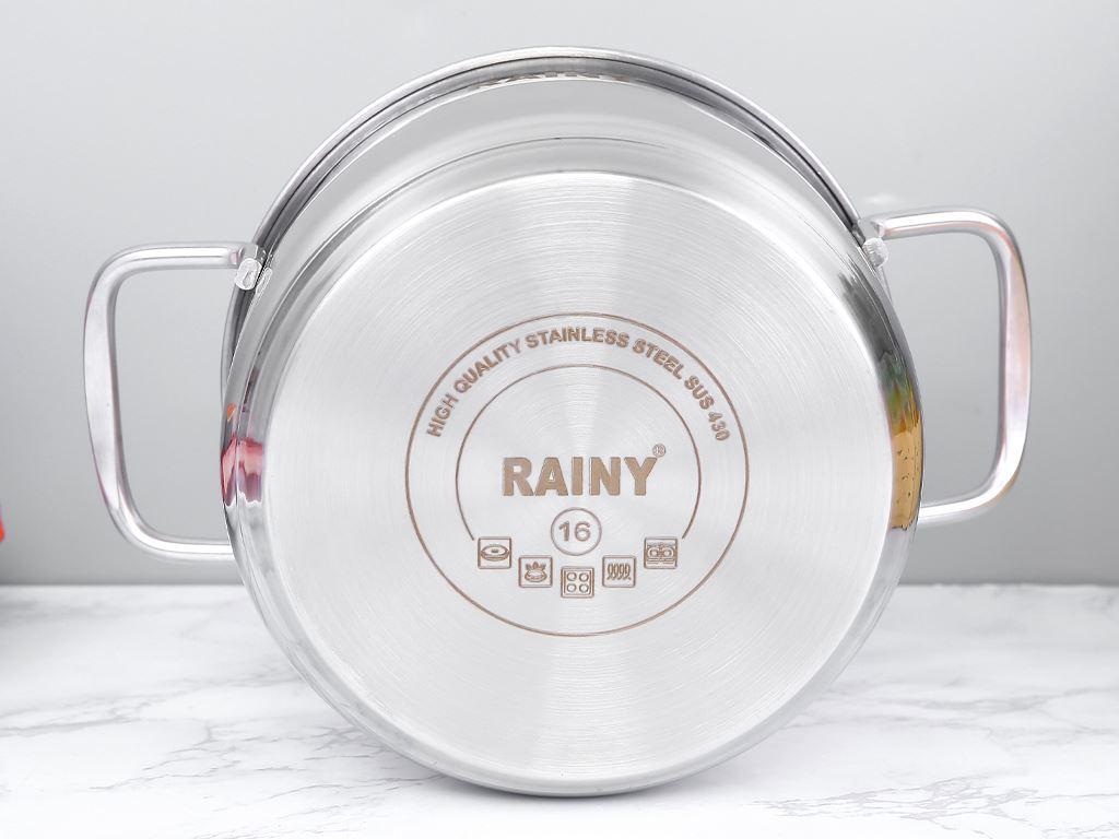 Nồi inox nắp kiếng 3 đáy Rainy RNN16-3DTTK 16cm 5