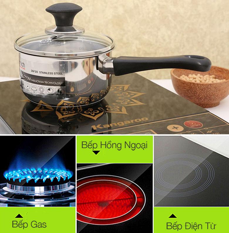 Nồi quánh Elmich SM6989 sử dụng được cho bếp gas, bếp hồng ngoại, bếp từ