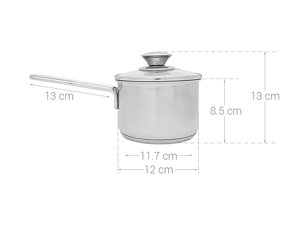 Quánh inox 430 3 đáy Fivestar Q12-3DG 12cm 8