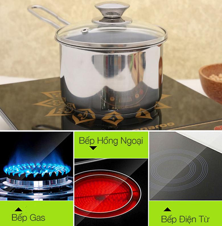 Nồi quánh Fivestar Q12-3DG sử dụng được cho bếp gas, bếp hồng ngoại, bếp từ