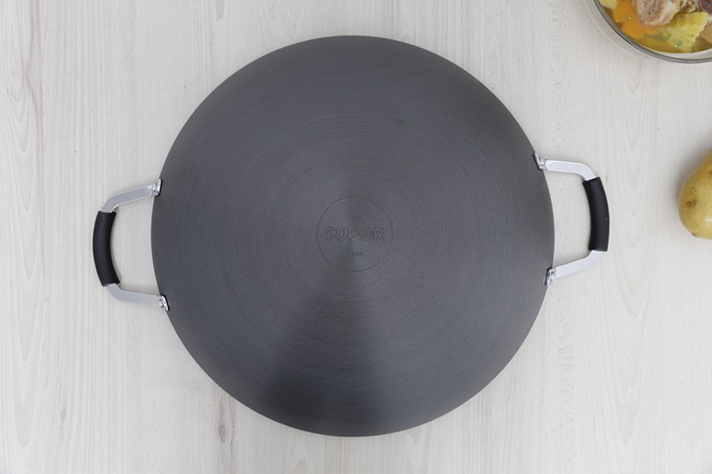 Chảo nhôm oxy hoá cứng 36 cm Supor H07011-3