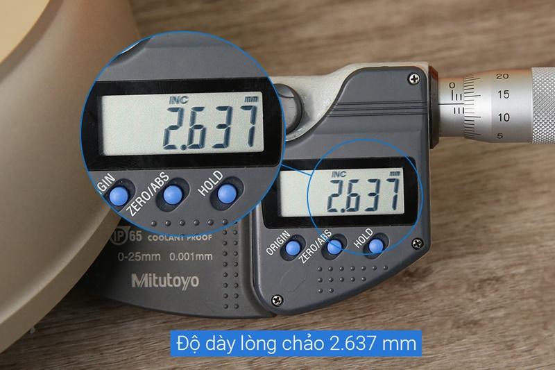 Độ dày gần 2.7 mm - Chảo nhôm chống dính đáy từ 24 cm Tefal H9100414