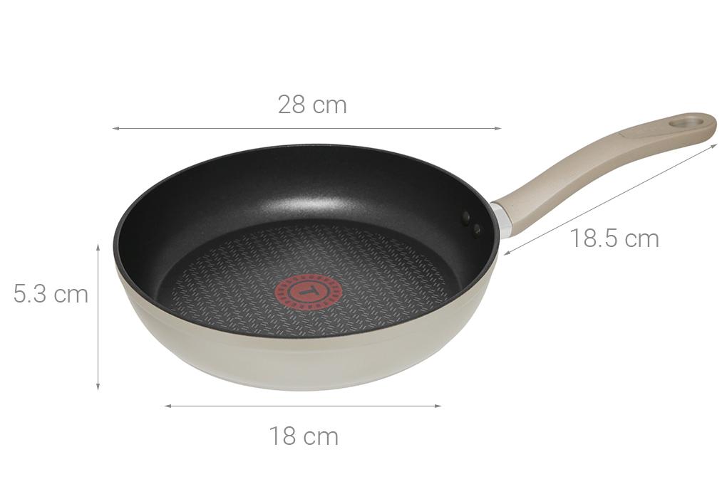 Thông số kỹ thuật Chảo nhôm chống dính đáy từ 28 cm Tefal H9100614