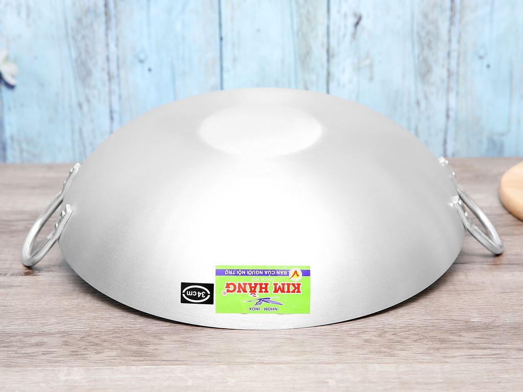 Chảo bầu nhôm Kim Hằng KHG9400 34cm 3