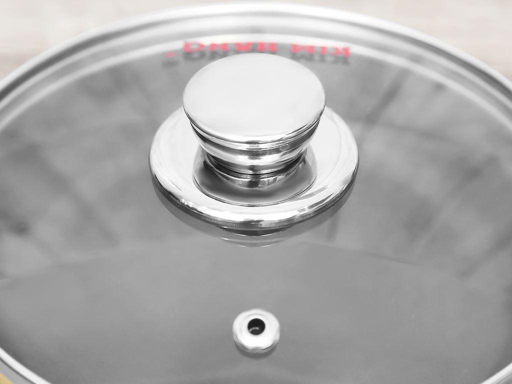 Chảo nhôm chống dính có nắp Kim Hằng KHG8050 16cm 4
