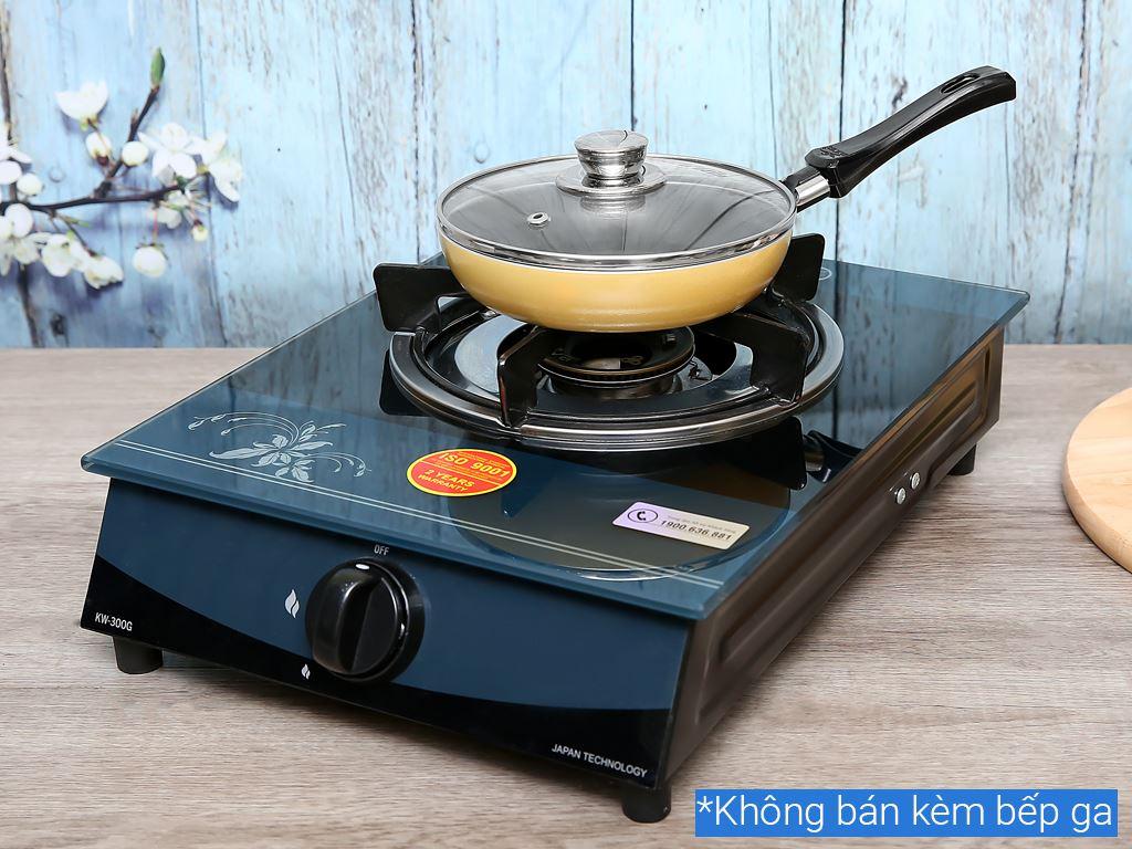 Chảo nhôm chống dính có nắp Kim Hằng KHG8050 16cm 10