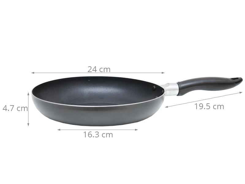 Đường kính chảo 24 cm thích hợp nấu những bữa ăn vừa, nhỏ ấm cúng