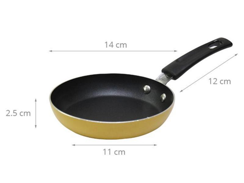 Thông số kỹ thuật Chảo nhôm chống dính 14 cm Goldsun Baby FP-GC914