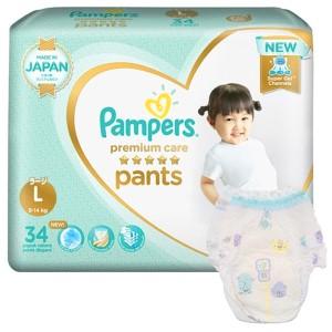 Tã quần Pampers cao cấp size L 34 miếng (cho bé 9 - 14kg)