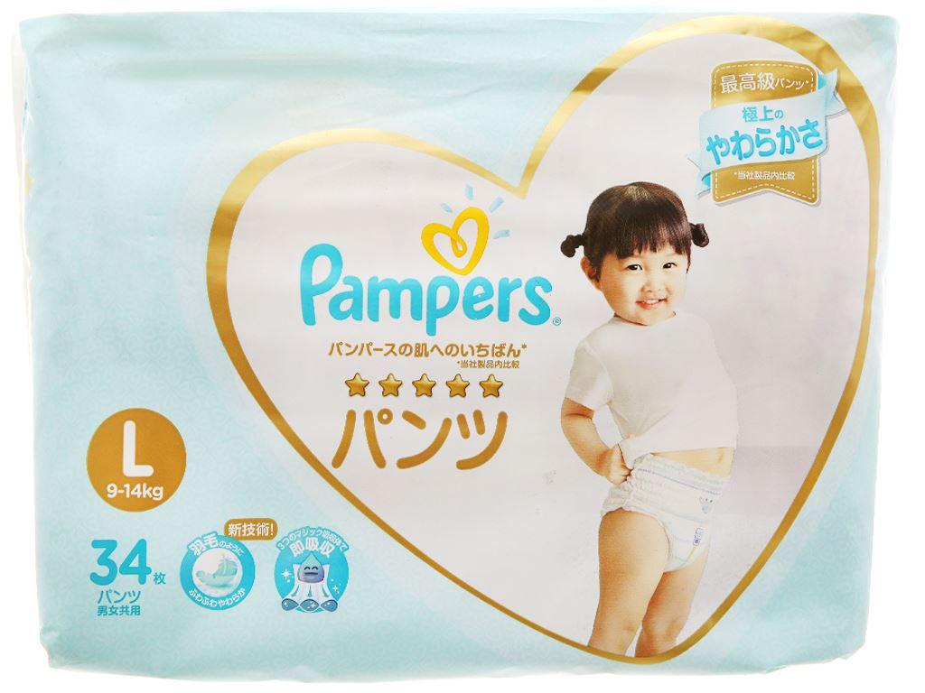 Tã quần Pampers cao cấp size L 34 miếng (cho bé 9 - 14kg) 1