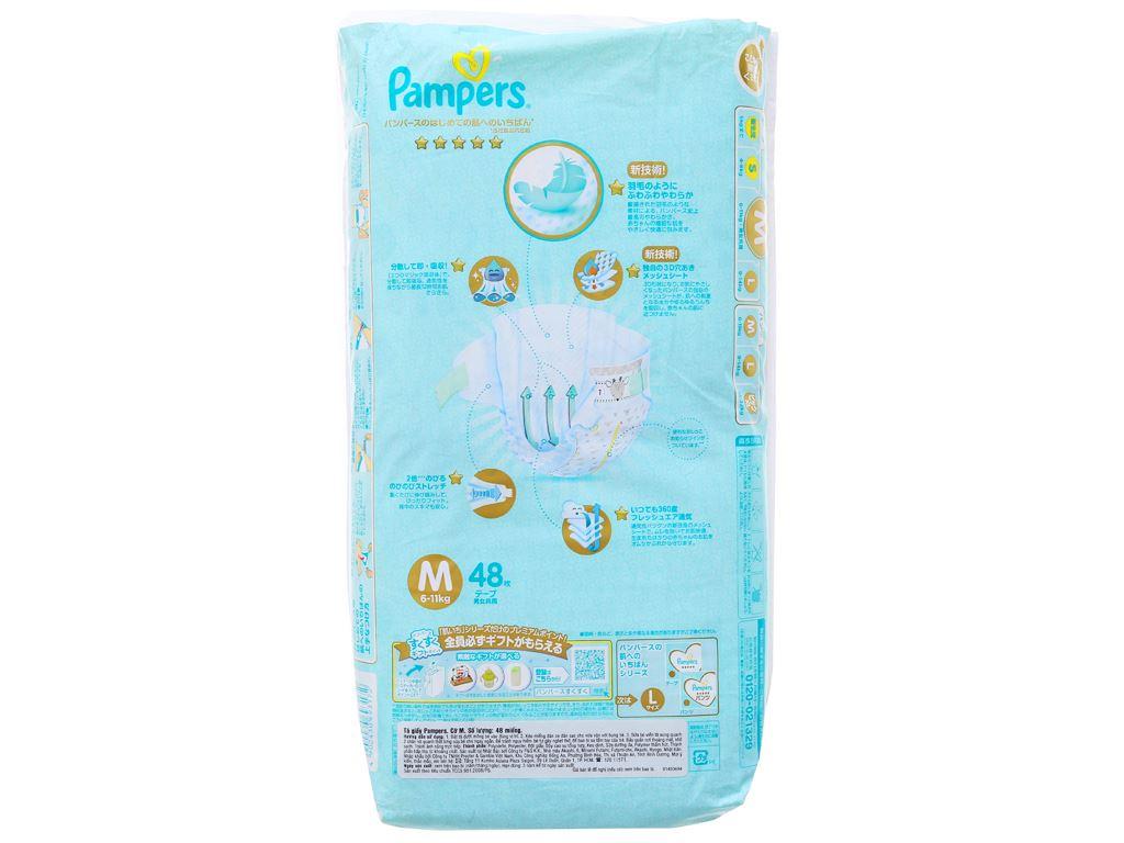 Tã dán Pampers cao cấp size M 48 miếng (cho bé 6 - 11kg) 2