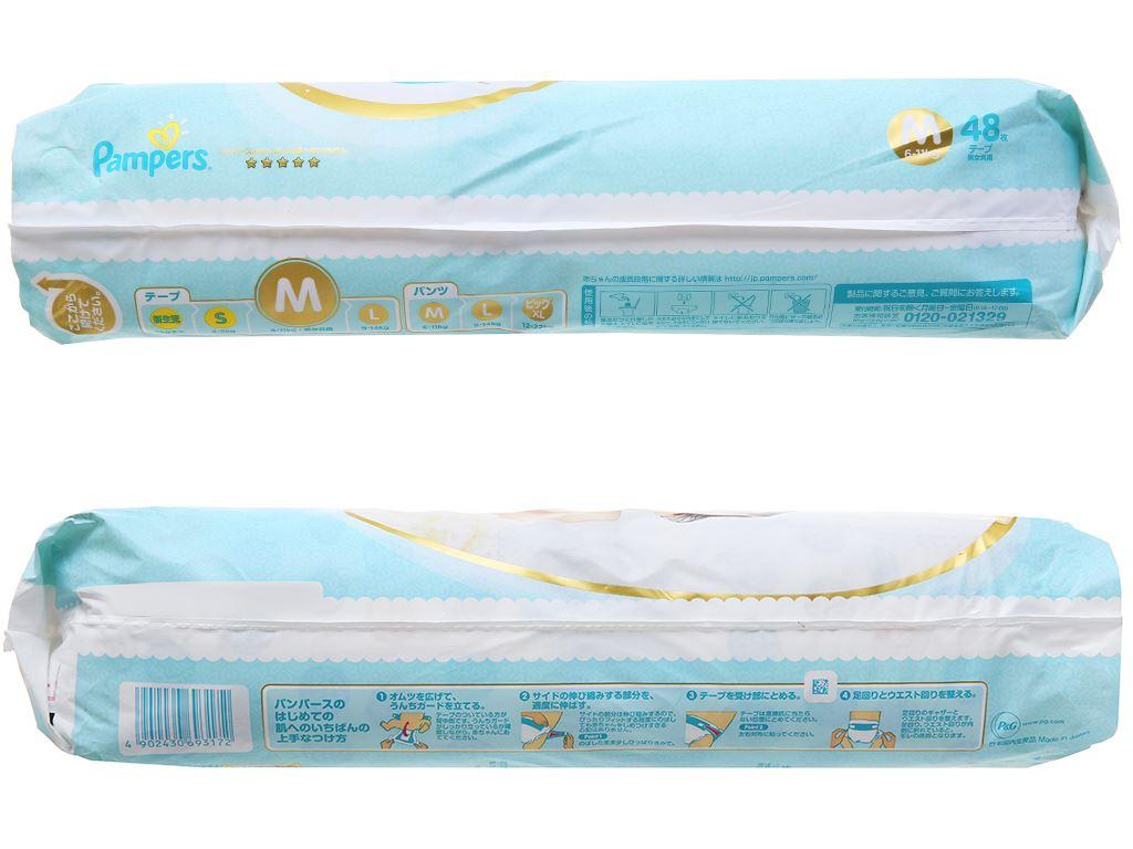 Tã dán Pampers cao cấp size M 48 miếng (cho bé 6 - 11kg) 3