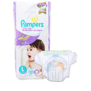 Tã dán Pampers cao cấp size L 40 miếng (cho bé 9 - 14kg)
