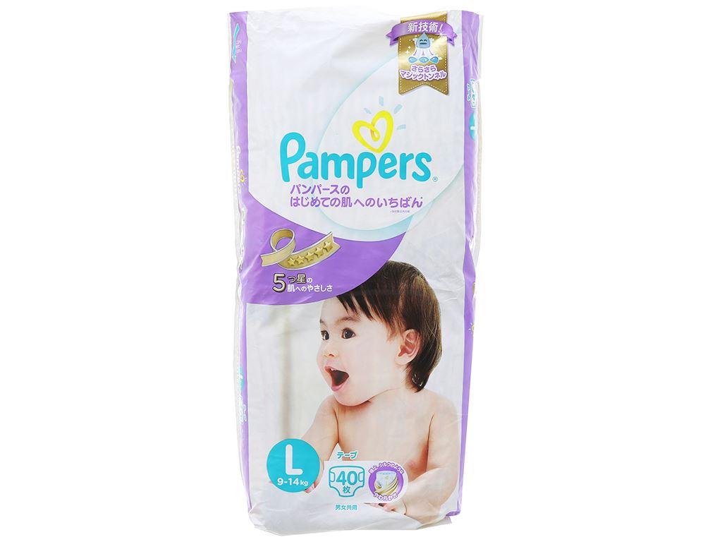 Tã dán Pampers cao cấp size L 40 miếng (cho bé 9 - 14kg) 2