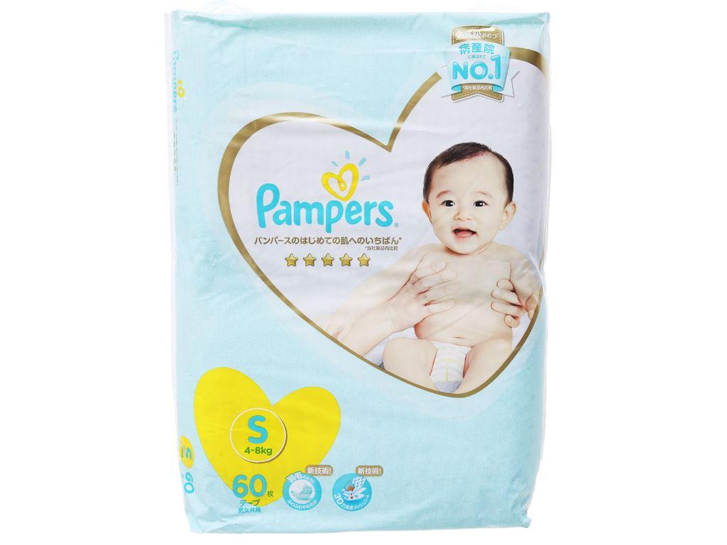 Tã dán Pampers cao cấp Size S 60 miếng (cho bé 4 - 8kg) 1