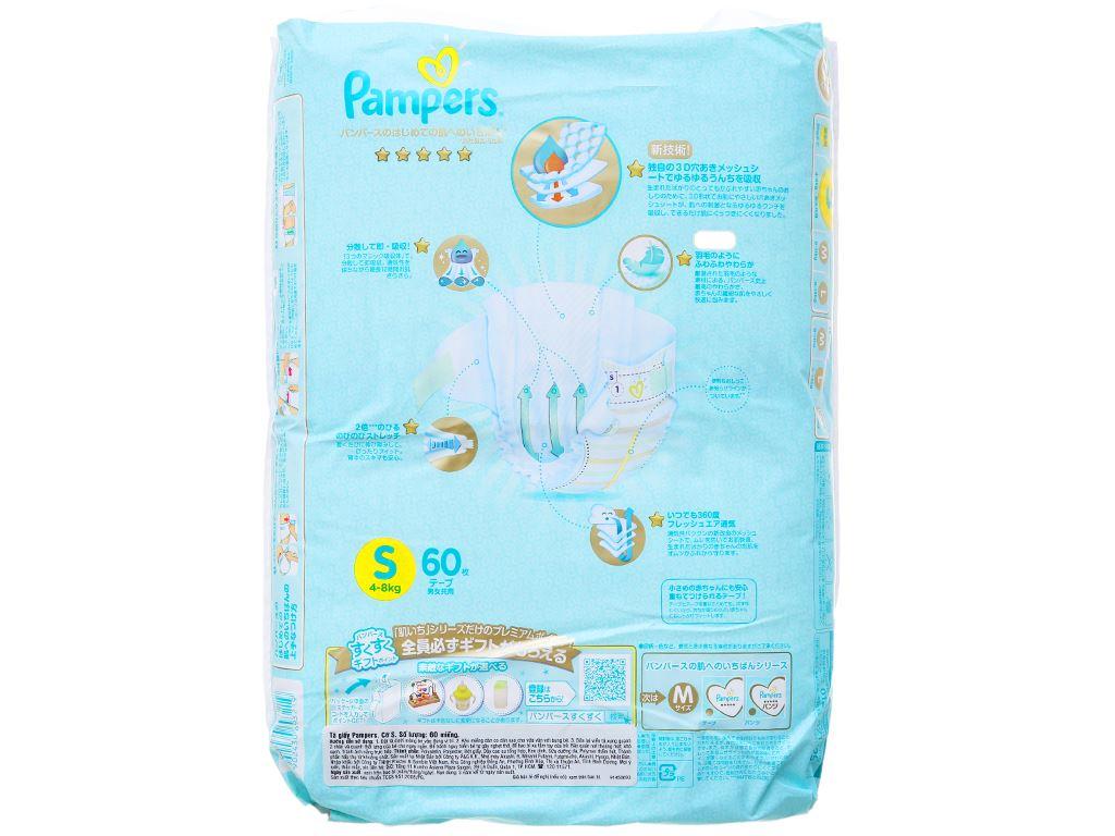 Tã dán Pampers cao cấp size S 60 miếng (cho bé 4 - 8kg) 2