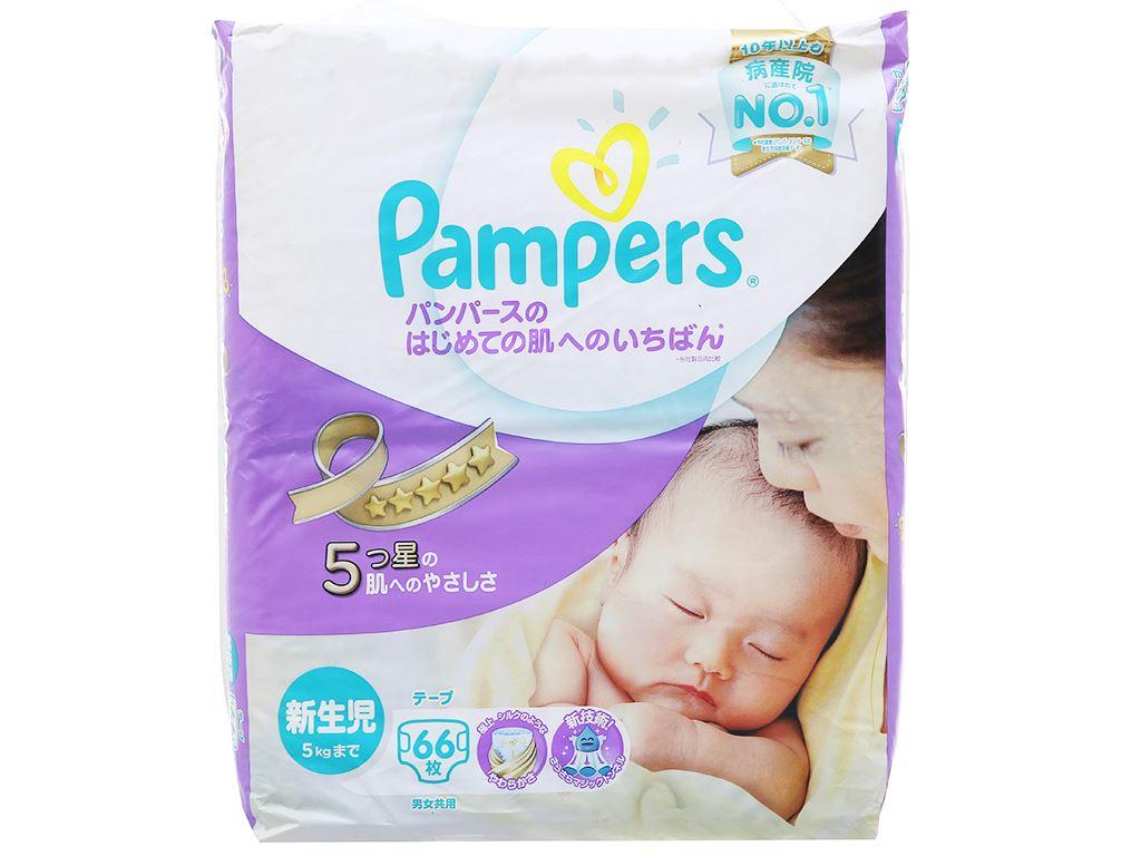 Tã dán Pampers cao cấp size NB 66 miếng (cho bé dưới 5kg) 1