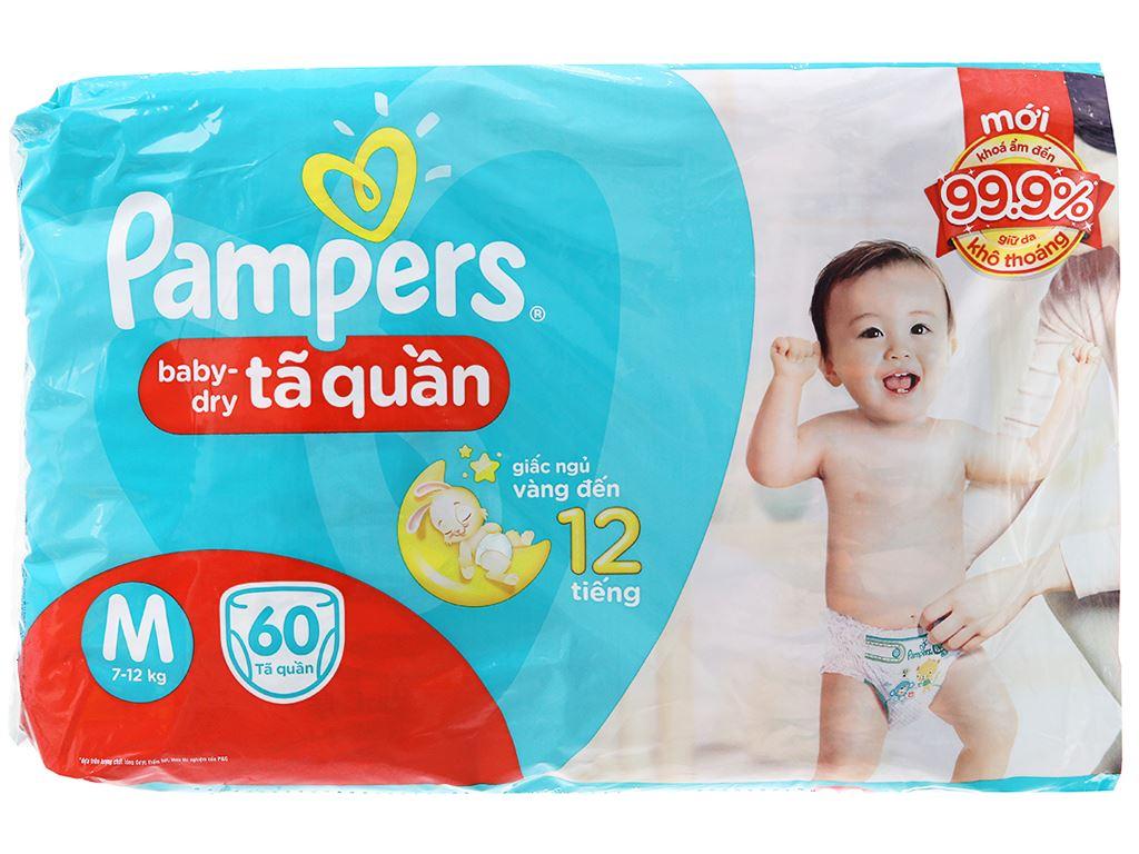 Tã quần Pampers Baby Dry size M 60 miếng (cho bé 7 - 12kg) 2