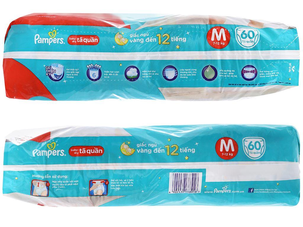 Tã quần Pampers Baby Dry size M 60 miếng (cho bé 7 - 12kg) 3