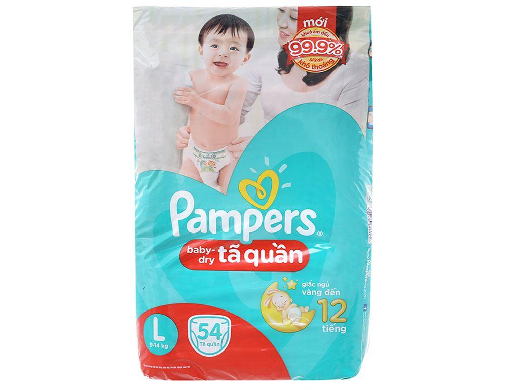 Tã quần Pampers Baby Dry Size L 54 miếng (cho bé 9 - 14kg) 1