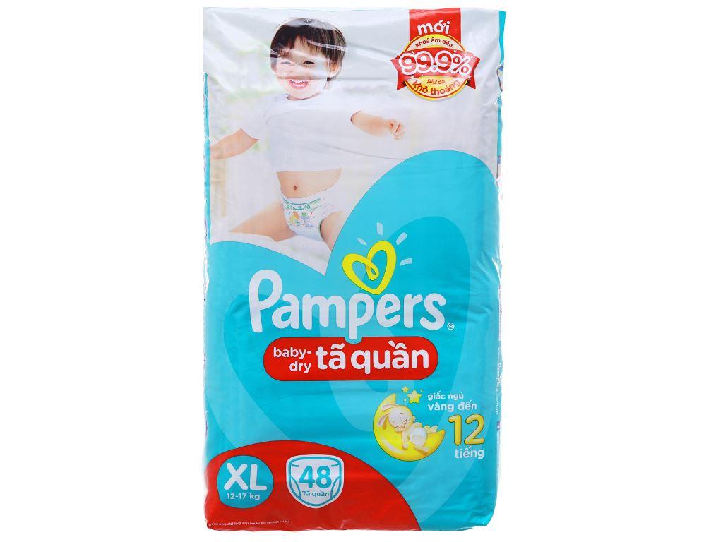 Tã quần Pampers Baby Dry size XL 48 miếng (cho bé 12 - 17kg) 1