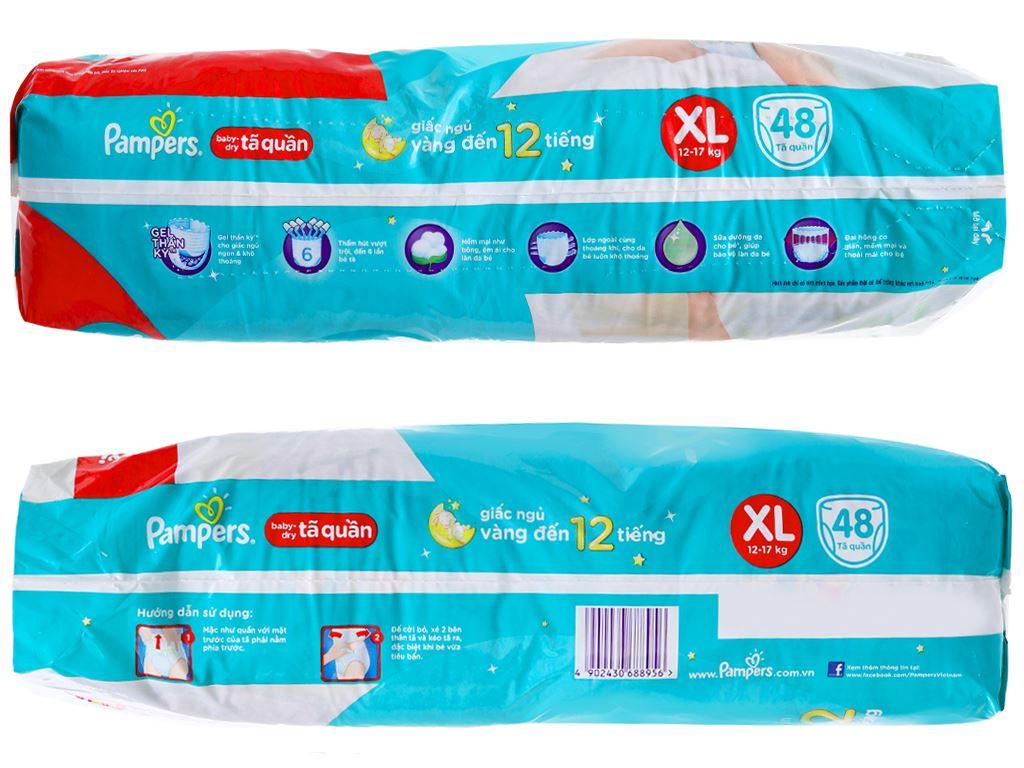 Tã quần Pampers Baby Dry size XL 48 miếng (cho bé 12 - 17kg) 3
