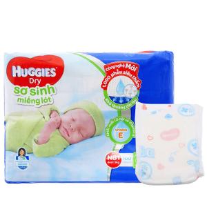 Miếng lót sơ sinh Huggies Dry size NB1 100 miếng (cho bé dưới 5kg)