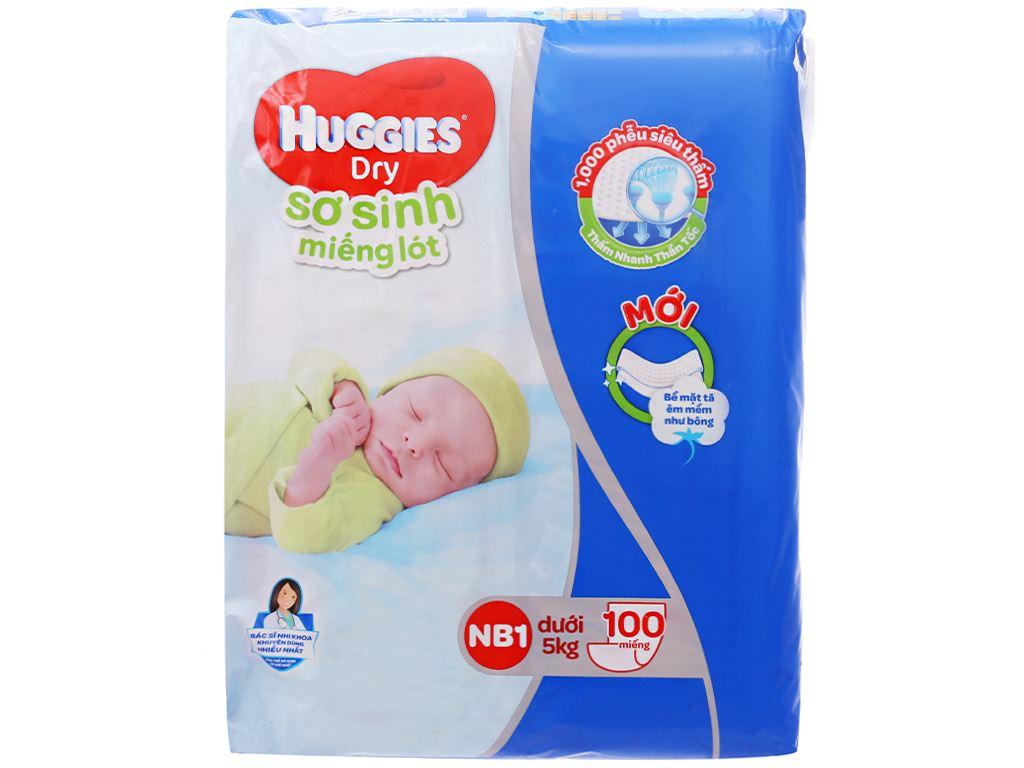 Miếng lót sơ sinh Huggies Dry size NB1 100 miếng (cho bé dưới 5kg) 1