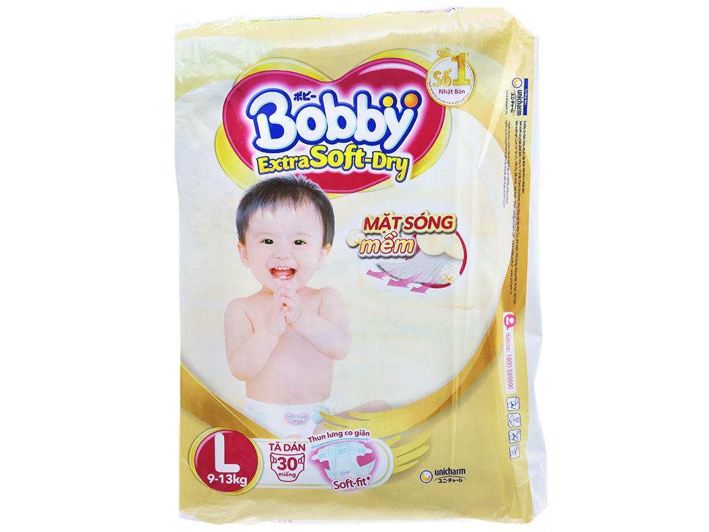 Tã dán Bobby Extra Soft Dry size L 30 miếng (cho bé 9 - 13kg) 1