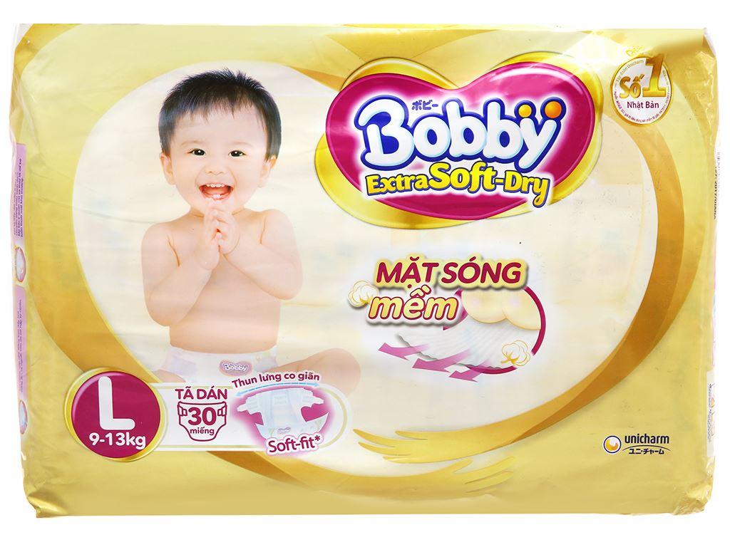 Tã dán Bobby Extra Soft Dry size L 30 miếng (cho bé 9 - 13kg) 2