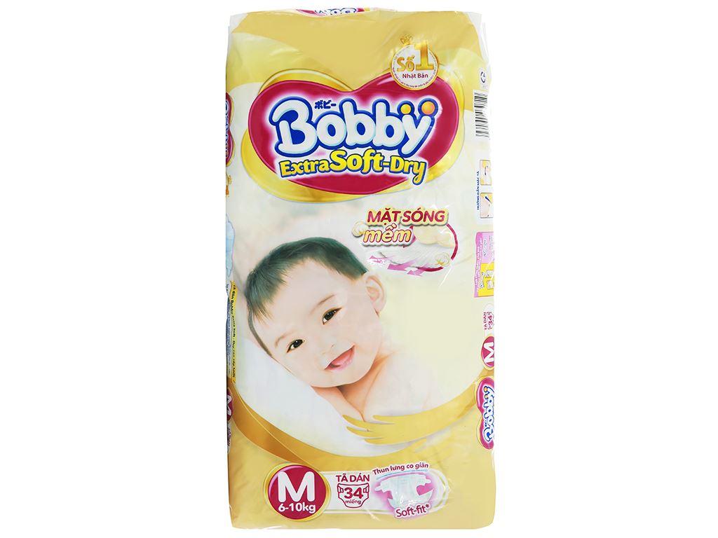 Tã dán Bobby Extra Soft Dry size M 34 miếng (cho bé 6 - 10kg) 1