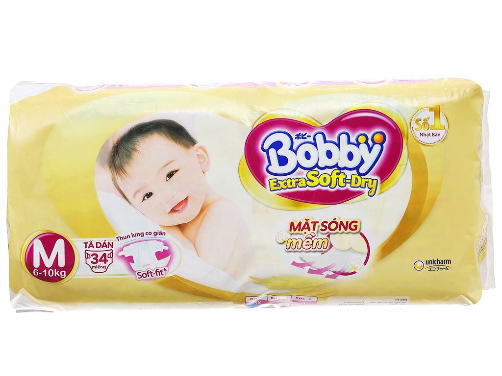 Tã dán Bobby Extra Soft Dry size M 34 miếng (cho bé 6 - 10kg) 2