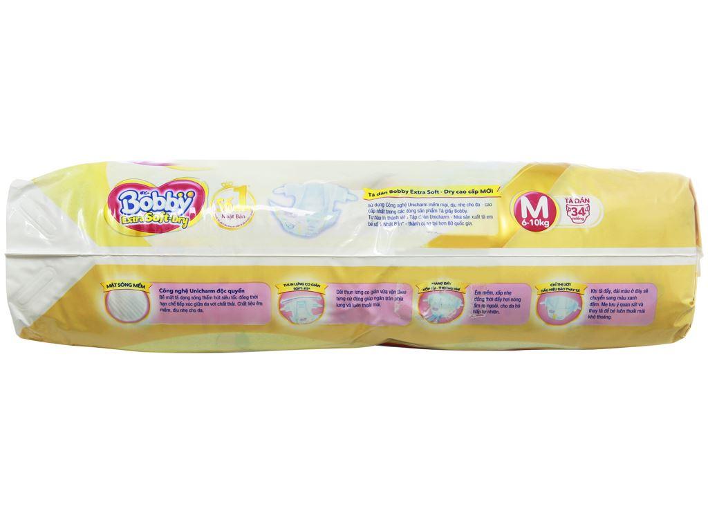Tã dán Bobby Extra Soft Dry size M 34 miếng (cho bé 6 - 10kg) 3