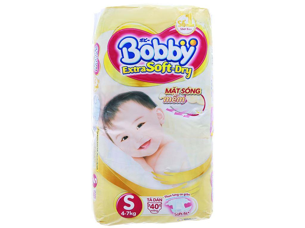 Tã dán Bobby Extra Soft Dry size S 40 miếng (cho bé 4 - 7kg) 1