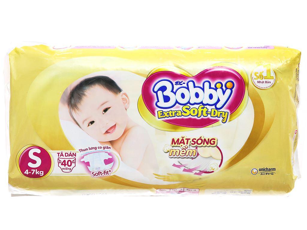 Tã dán Bobby Extra Soft Dry size S 40 miếng (cho bé 4 - 7kg) 2
