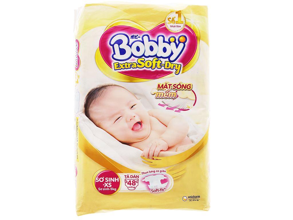 Tã dán Bobby Extra Soft Dry size XS 48 miếng (cho bé dưới 5kg) 1
