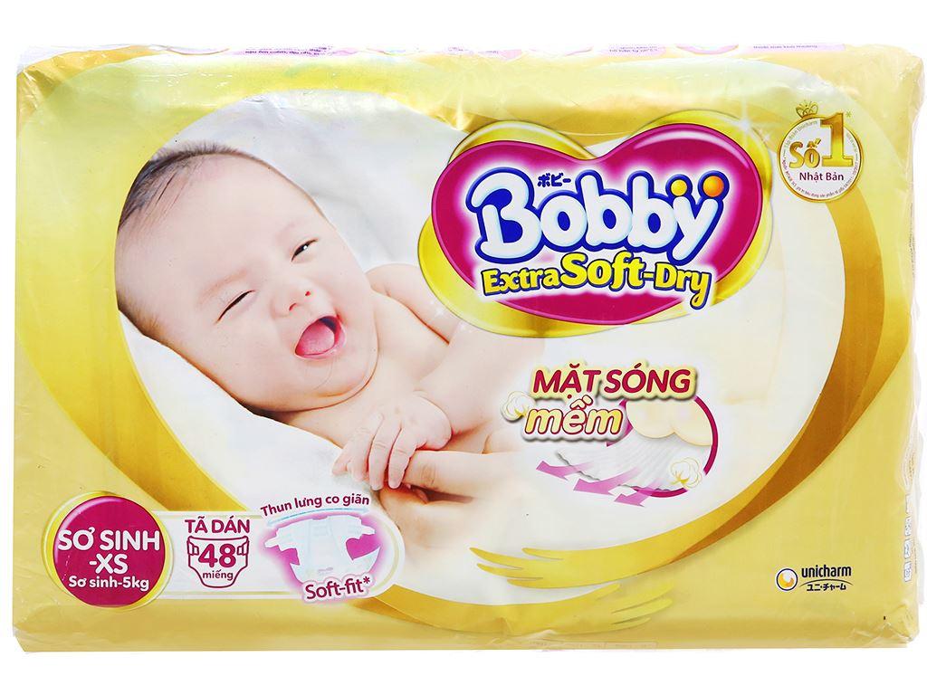 Tã dán Bobby Extra Soft Dry size XS 48 miếng (cho bé dưới 5kg) 2