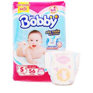 Tã dán Bobby size M 48 miếng (cho bé 6 - 10kg)