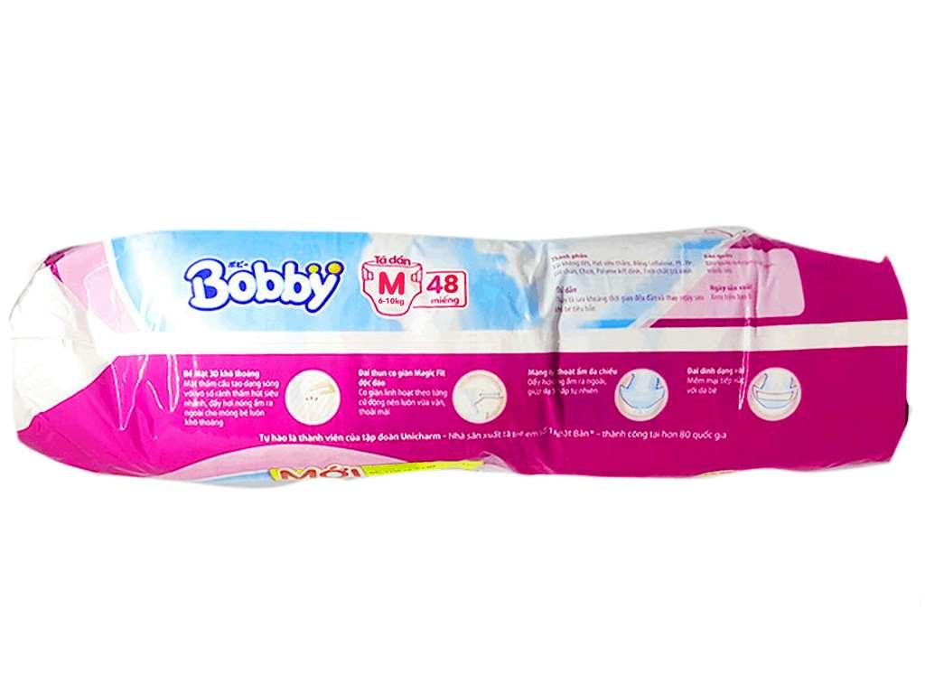 Tã dán Bobby size M 48 miếng (cho bé 6 - 10kg) 3