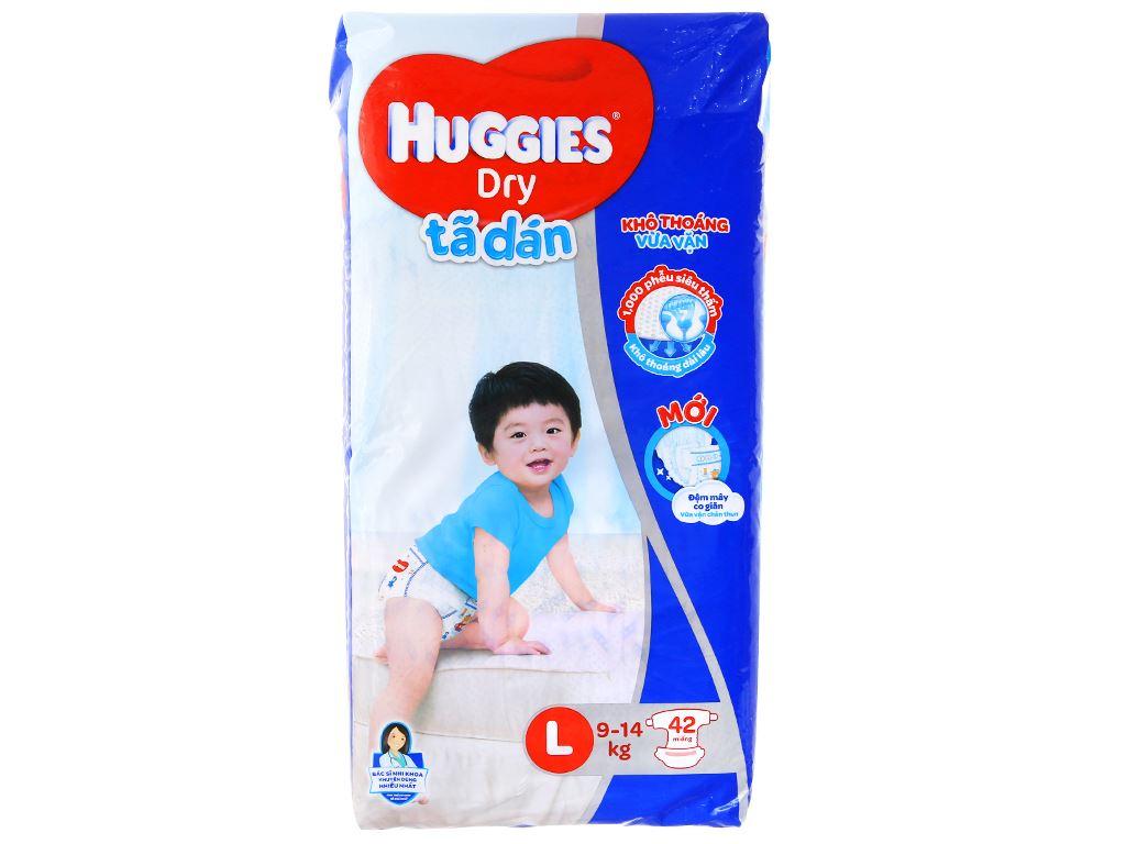 Tã dán Huggies Dry size L 42 miếng (cho bé 9 - 14kg) 1