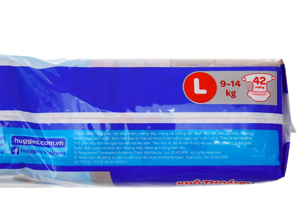 Tã dán Huggies Dry size L 42 miếng (cho bé 9 - 14kg) 3