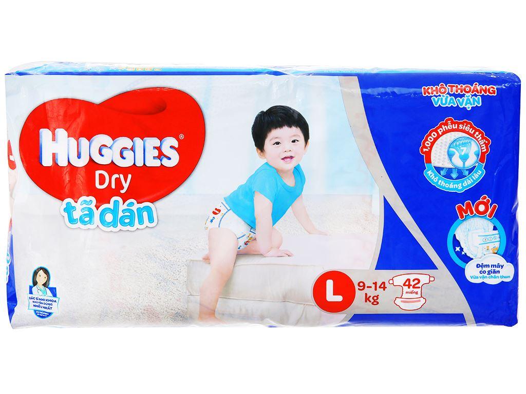 Tã dán Huggies Dry size L 42 miếng (cho bé 9 - 14kg) 2