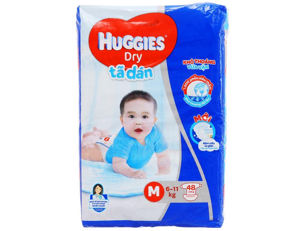 Tã dán Huggies Dry size M 48 miếng (cho bé 6 - 11kg) 1