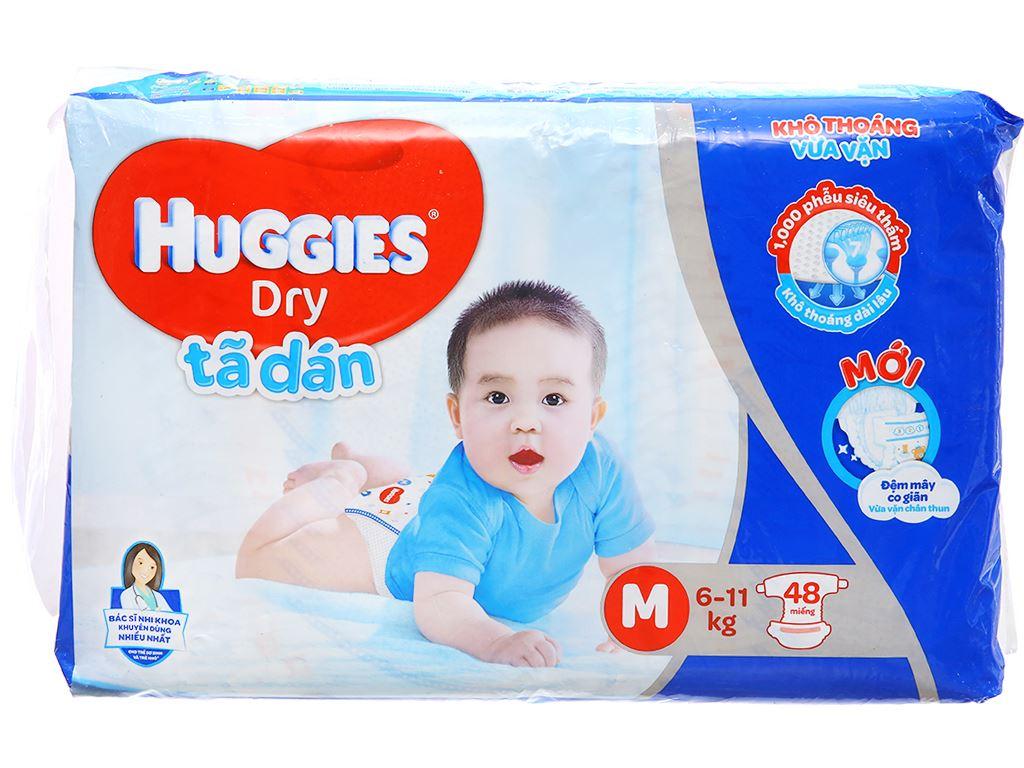 Tã dán Huggies Dry size M 48 miếng (cho bé 6 - 11kg) 2