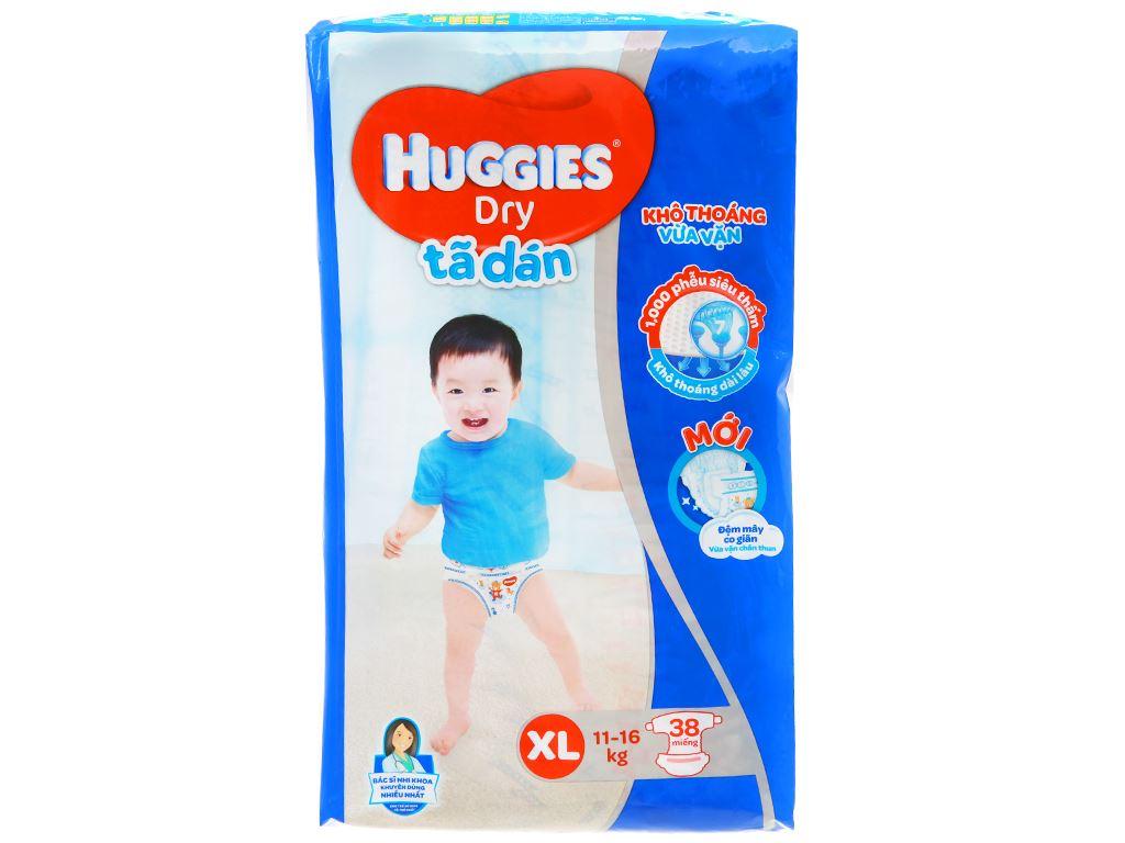 Tã dán Huggies Dry size XL 38 miếng (cho bé 11 - 16kg) 1