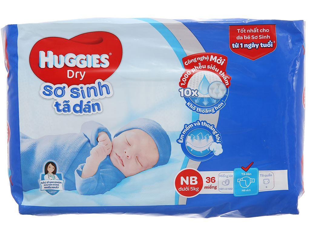Tã dán sơ sinh Huggies Dry size NB 36 miếng (cho bé dưới 5kg) 2