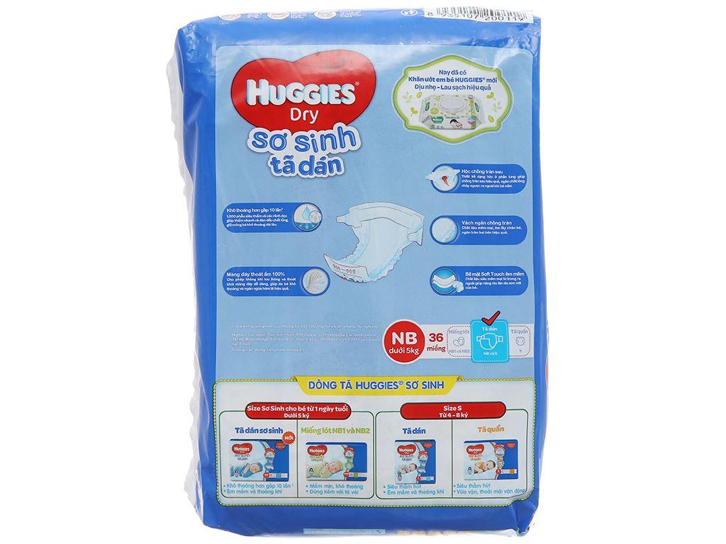 Tã dán sơ sinh Huggies Dry size NB 36 miếng (cho bé dưới 5kg) 3