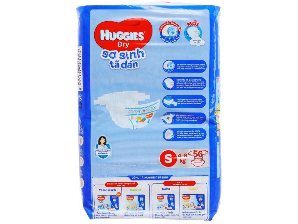 Tã dán Huggies Dry size S 56 miếng (cho bé 4 - 8kg) 2