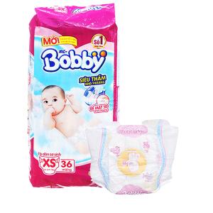 Tã dán Bobby size XS 36 miếng (cho bé dưới 5kg)
