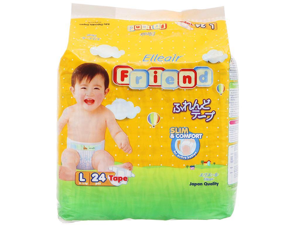 Tã dán Goon Elleair Friend size L 24 miếng (cho bé 8 - 13kg) 1